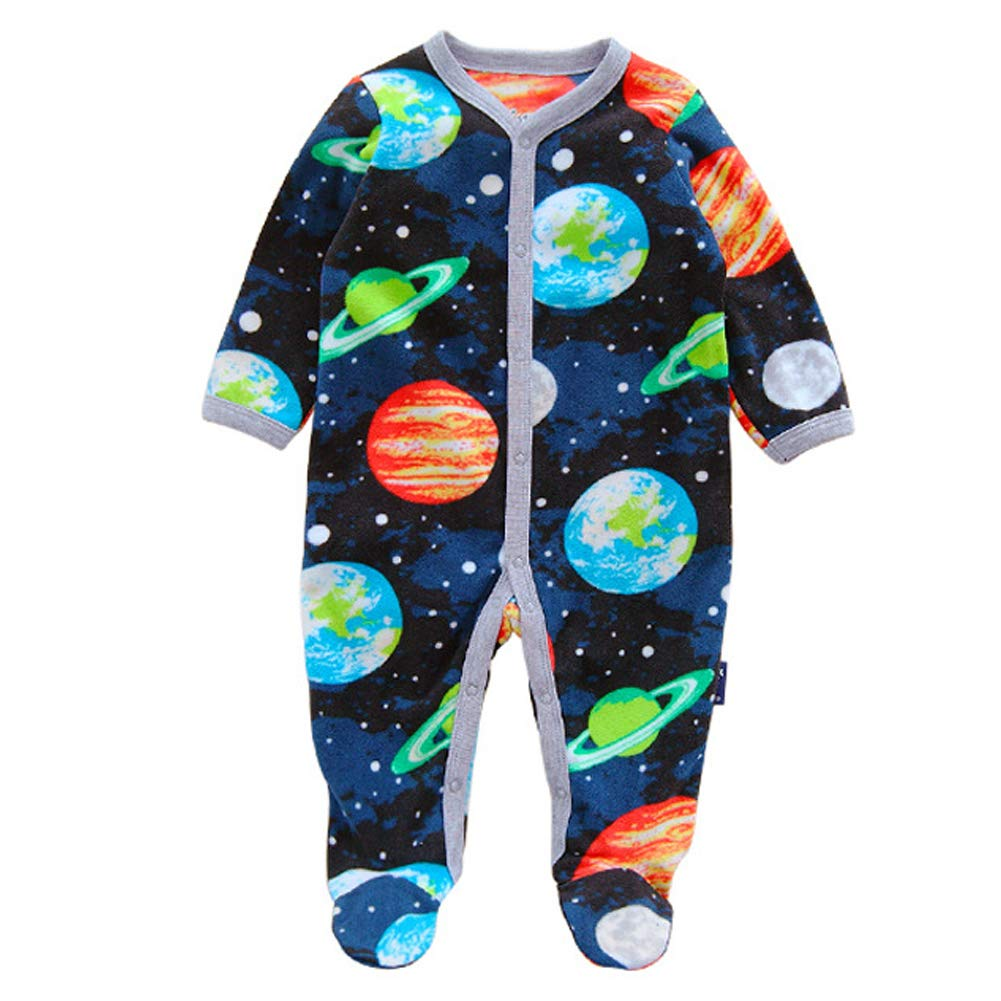 7e62315c58a8 Aablexema Baby Boys 2-Pack Fleece Footed Pajamas