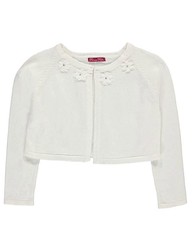 c7c1f304500 Amazon.com  Princess Faith Little Girls  Rosette Neckline Shrug Cardigan   Clothing