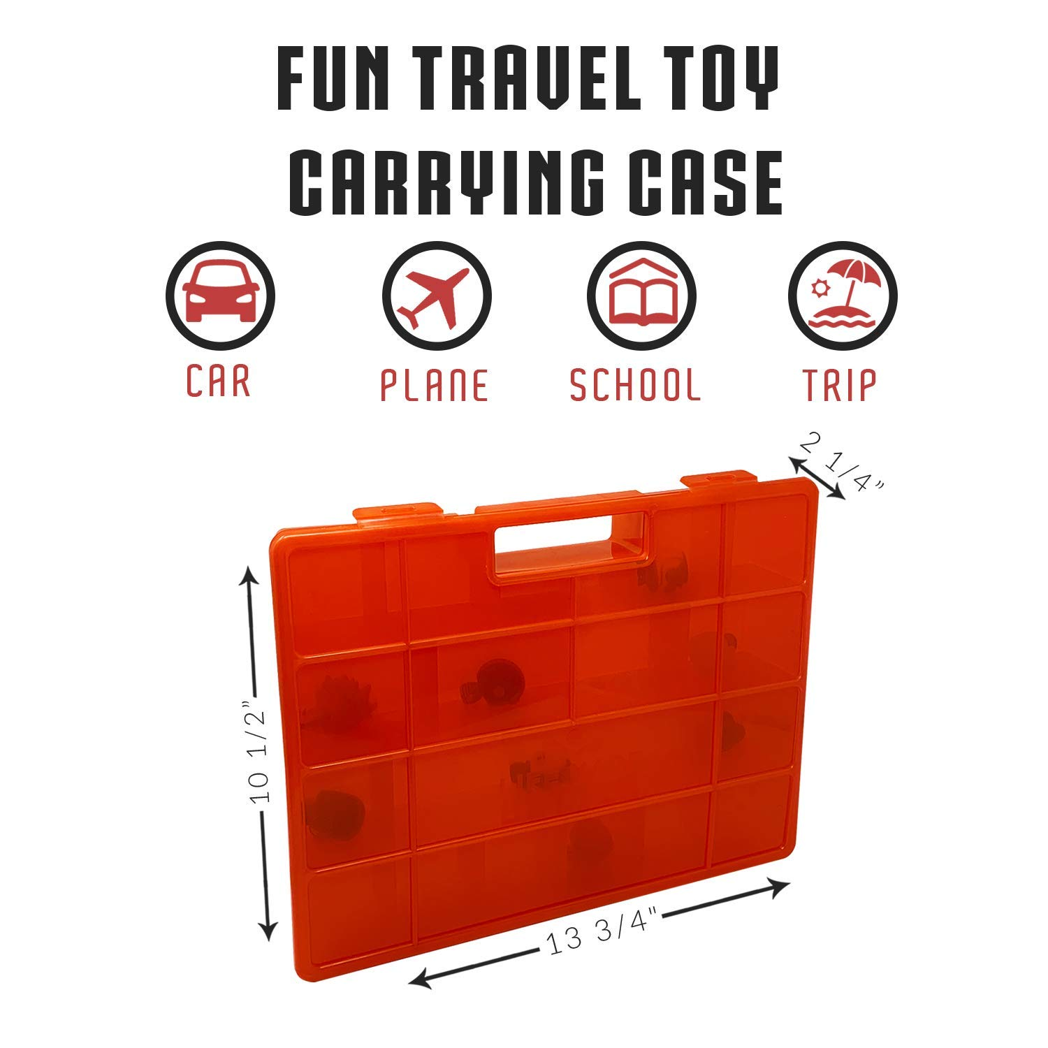 not Made by Wild Kratts Life Made Better Newly Designed Toy Carrying and Storage Case Compatible with Wild Kratts Toys