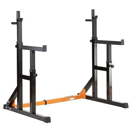 Mirafit Adjustable Squat Rack With Dip Bars Multi Position Spotter