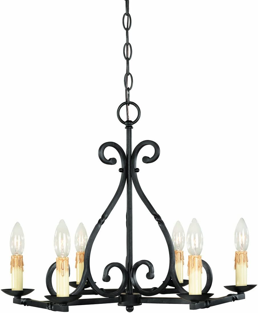 World Imports Lighting 61818-42 Rennes 8-Light Chandelier, Rust