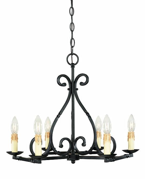 World Imports Lighting 61818-42 Rennes 8-Light Chandelier, Rust