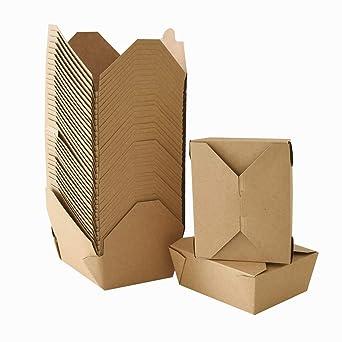 Cajas de papel kraft ecológicas, 45 onzas, para comida china ...