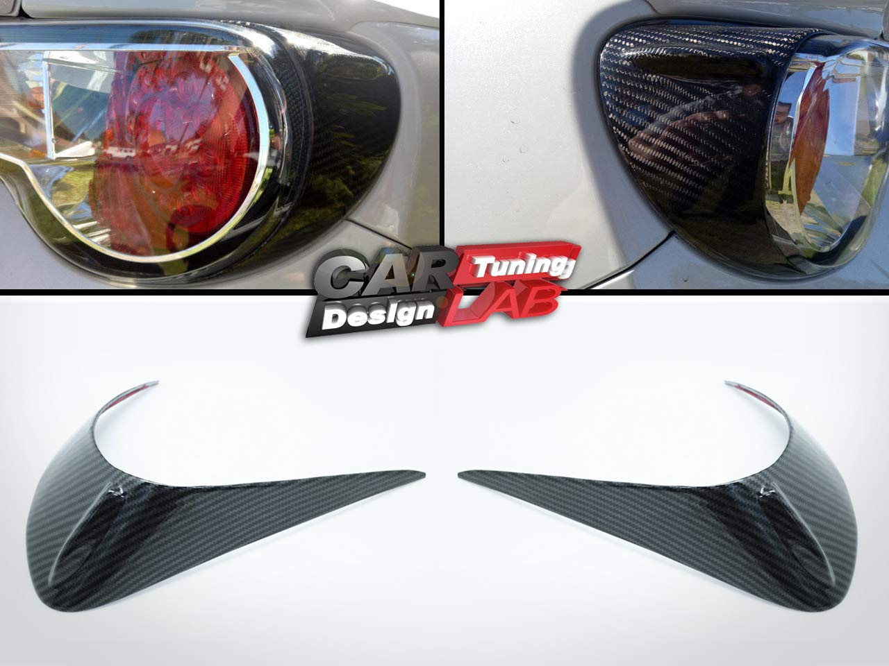 Carbon Tail lights Eyelids Eyebrow Cover BRZ CarLab