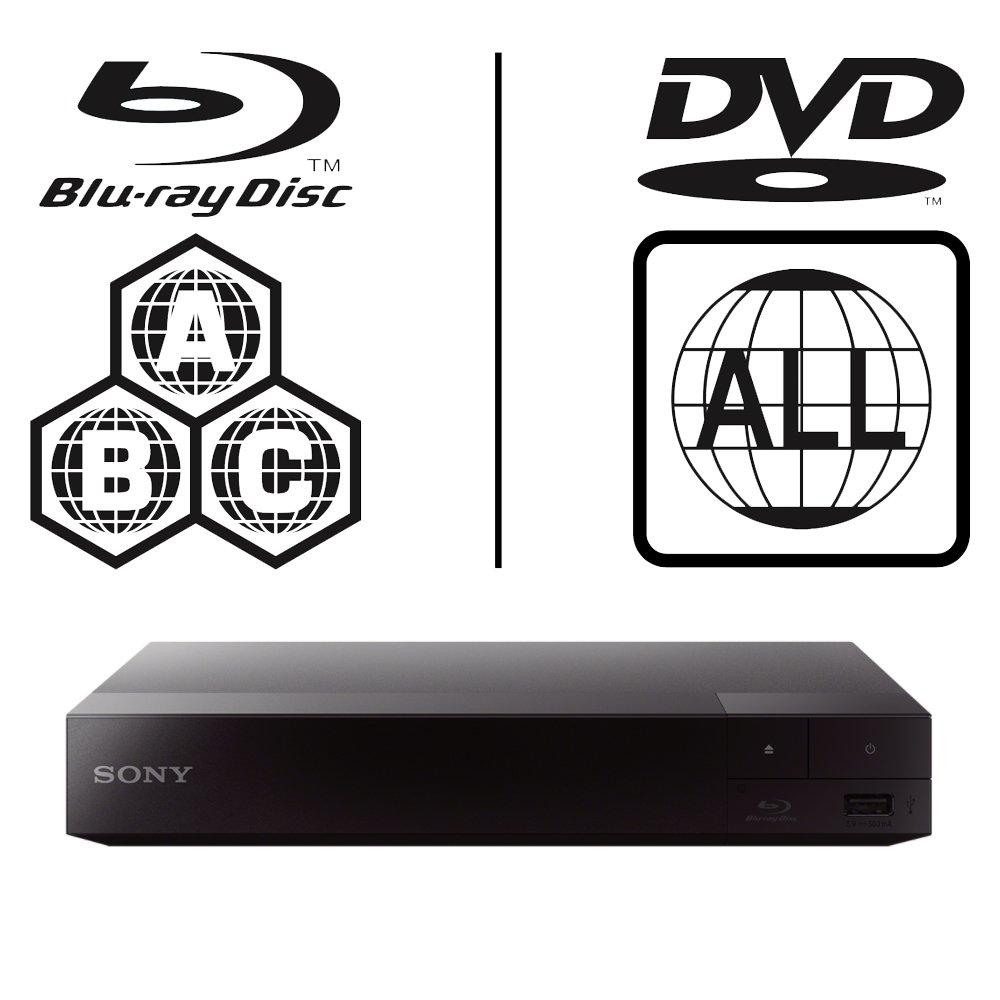 SONY BDP-S1500 Lecteur Multi Zone Region Code Free Blu Ray - DVD - CD  Player - PAL/NTSC - Worldwide Voltage 100~240V - 1 USB, 1 HDMI, 1 COAX, 1