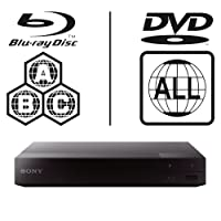 SONY BDP-S3700 Smart WiFi ICOS Multi Region All Zone Code Free Blu-ray Player. Blu-ray Zones A, B and C, DVD Regions 1 - 8. Full HD 1080p DLNA YouTube, Netflix etc HDMI and Coaxial Audio Output