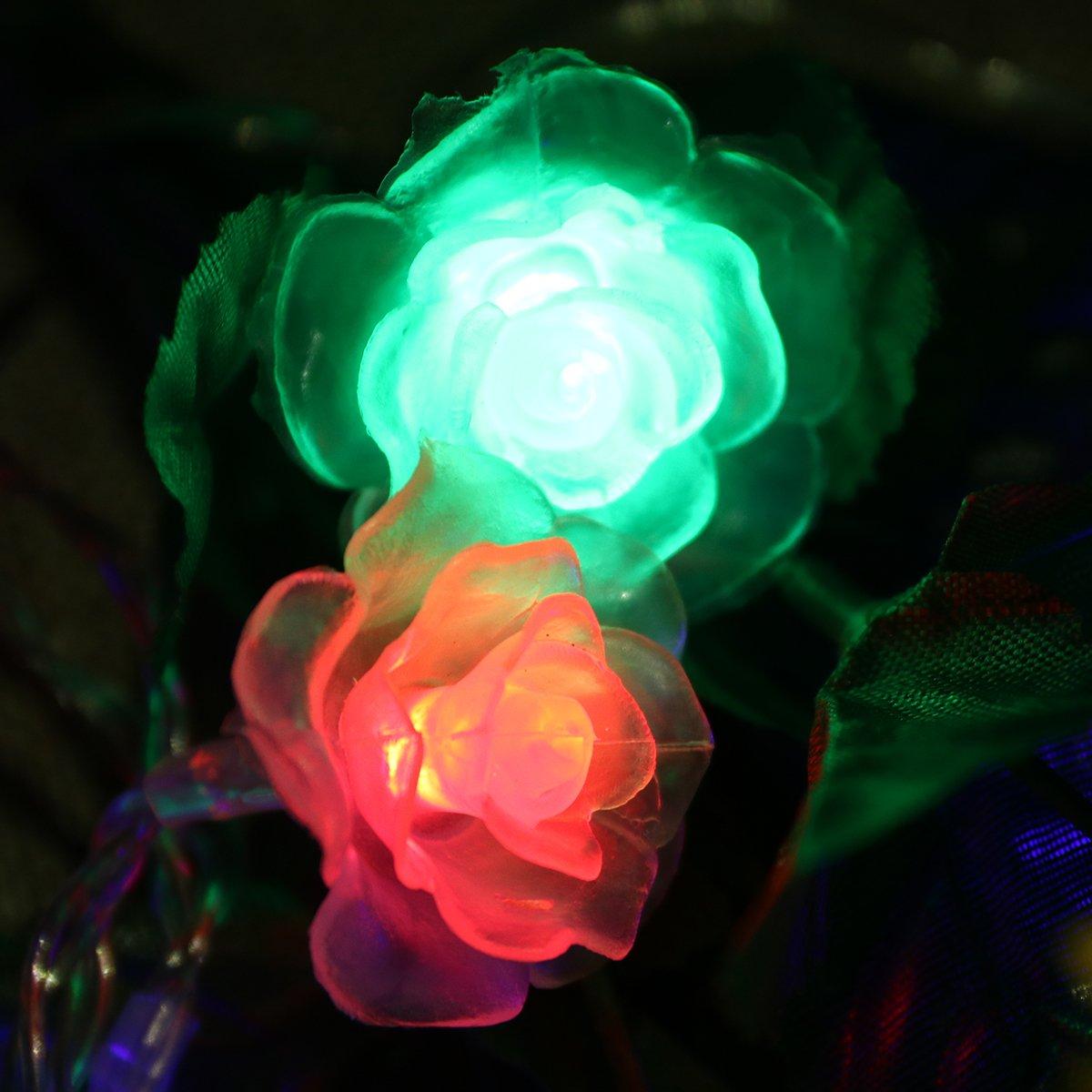 fiesta de cumplea/ños hogar para decoraci/ón de Navidad boda luz multicolor Guirnalda de 20 luces LED de 2,5 m funciona con pilas