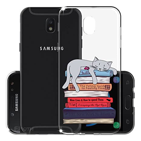 Funda para Samsung Galaxy J7 2017 (Solo disponible en versiones europeas) , IJIA Transparente