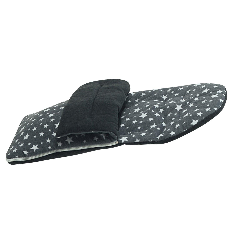 Fleece Fu/ßsack kompatibel mit Britax B-MOTION B-Agile Double/ /Grau Star