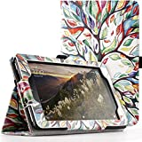 Poetic SlimFolio Fire 7 2017 Case Slim Leather Stand Folio Case with Auto Wake/Sleep for Amazon Fire 7 (7th Generation, 2017 Release) Lucky Tree