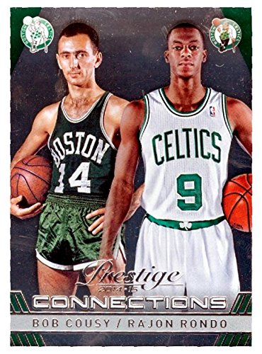 bf41fda82 Image Unavailable. Image not available for. Color  Bob Cousy and Rajon  Rondo basketball card (Boston Celtics) ...