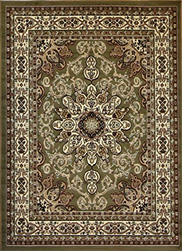 3' Sage Green (Generations Oriental Traditional Isfahan Persian Area Rug, 2' x 3', Sage Green)