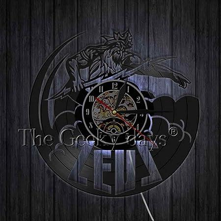 TIANZly Reloj de Registro de Vinilo anticuado de Zeus Antiguo Dios ...