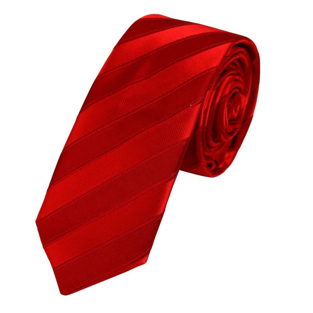 PS1098 Excellent Marketing Management Red Great Slim Tie Matching Present Box Set Stripes Silk Slim Tie By Epoint