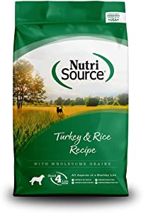 NutriSource Turkey & Rice Dog Food 15lb
