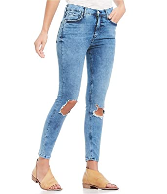 5b1612aa0f58 Free People Women s High Rise Busted Knee Skinny Jeans - Regular ...