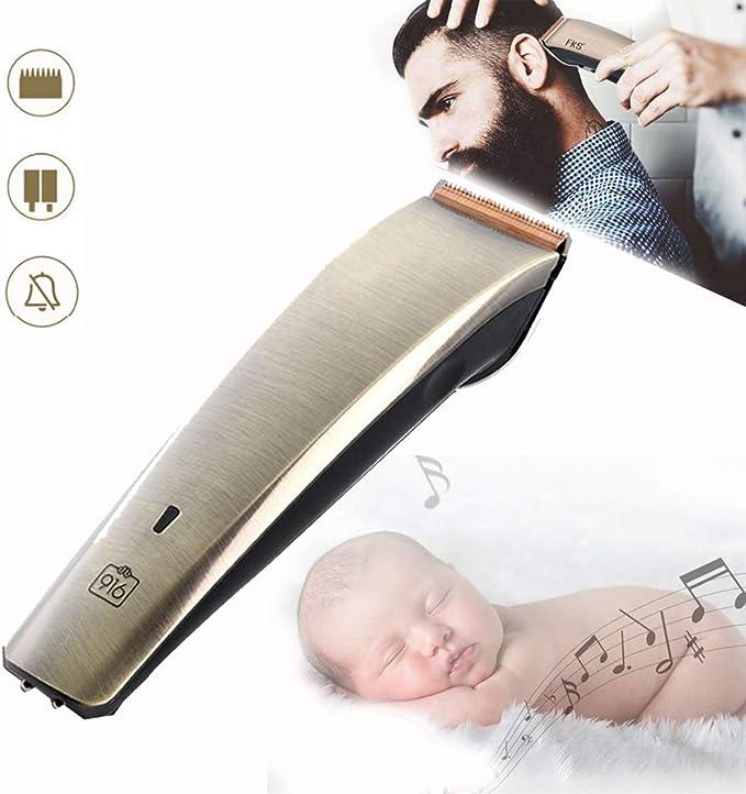 maquina cortar el pelo profesionalCortapelos para hombres, Recorte recargable inalámbrico Cuchilla de cerámica Peluquería familiar eléctrica Velocidades ajustables ...