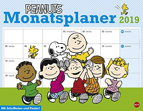 Peanuts Monatsplaner - Kalender 2019 Kalender – 4. April 2018 Heye 3840158605 Comic Kalender / Humor