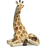 Design Toscano Zari the Resting Giraffe African Decor Garden Statue, 51 cm, Polyresin, Full Color