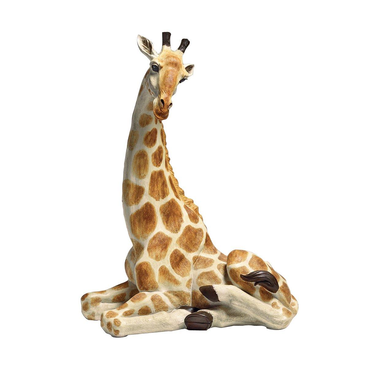 Amazon.com : Design Toscano Zari, The Resting Giraffe Statue : Garden U0026  Outdoor