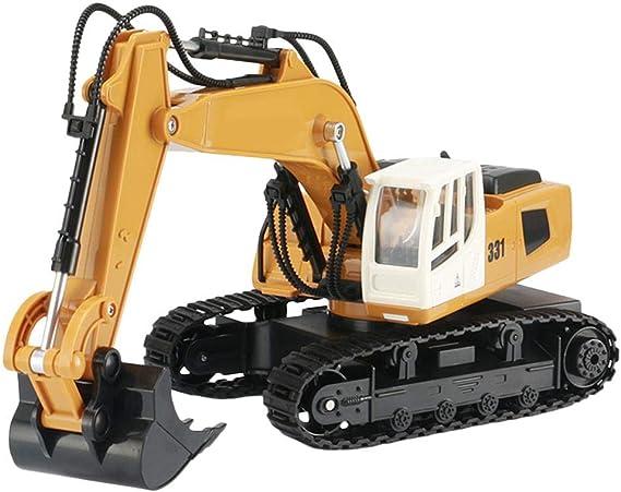Dreameryoly - Excavadora de Control Remoto para Camiones (Escala 1:18, 9 Canales, eléctrica): Amazon.es: Hogar