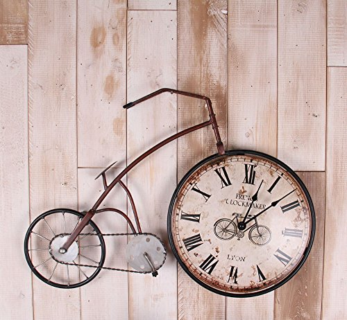 Shuangklei Clock Saat Large Wall Clock Reloj Duvar Saati Horloge Murale Relogio De Parede Klok Digital Wall Watch Home Decor Bicycle Shape