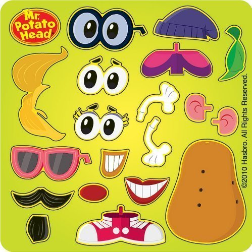 Mr Potato Head Make Your Own Spud Stickers - Party Favors - 50 per Pack by SmileMakers Inc