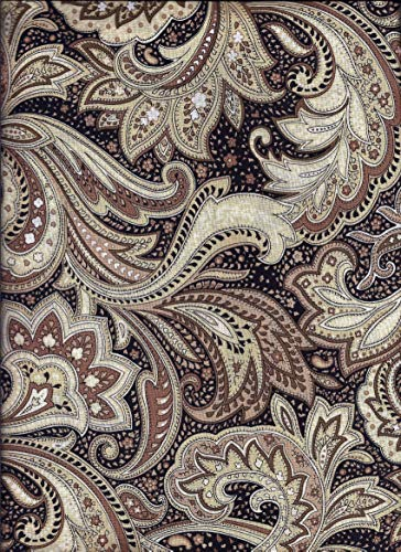 - Black and Tan Paisley Valance