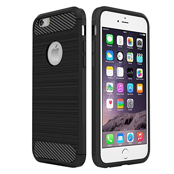 d402b0ec994 Simpeak Funda para iPhone 6s / 6, Negro Silicona Funda iPhone 6 Carcasa  Apple iPhone