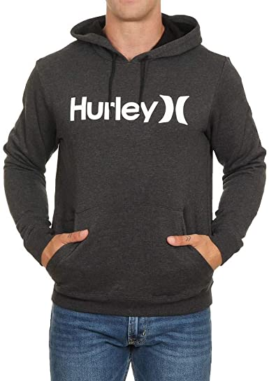 Hurley Mens One and Only Logo Hooded Sweatshirt