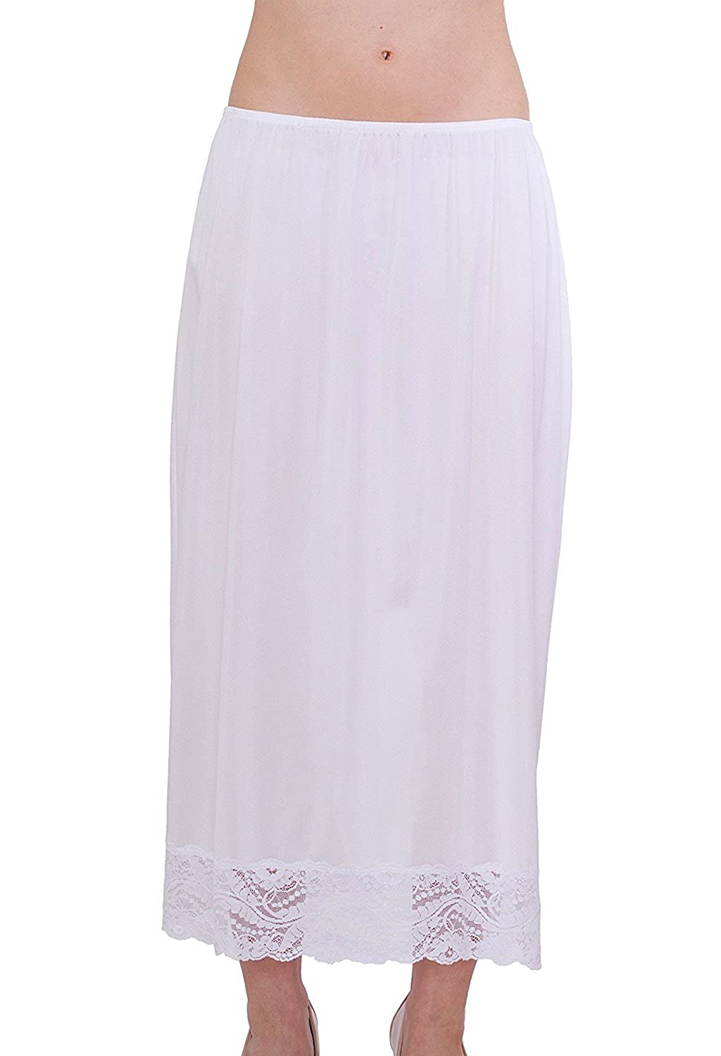 Under Moments Maxi, Half Slip Vintage Style 32 with All Around Lace UM2453