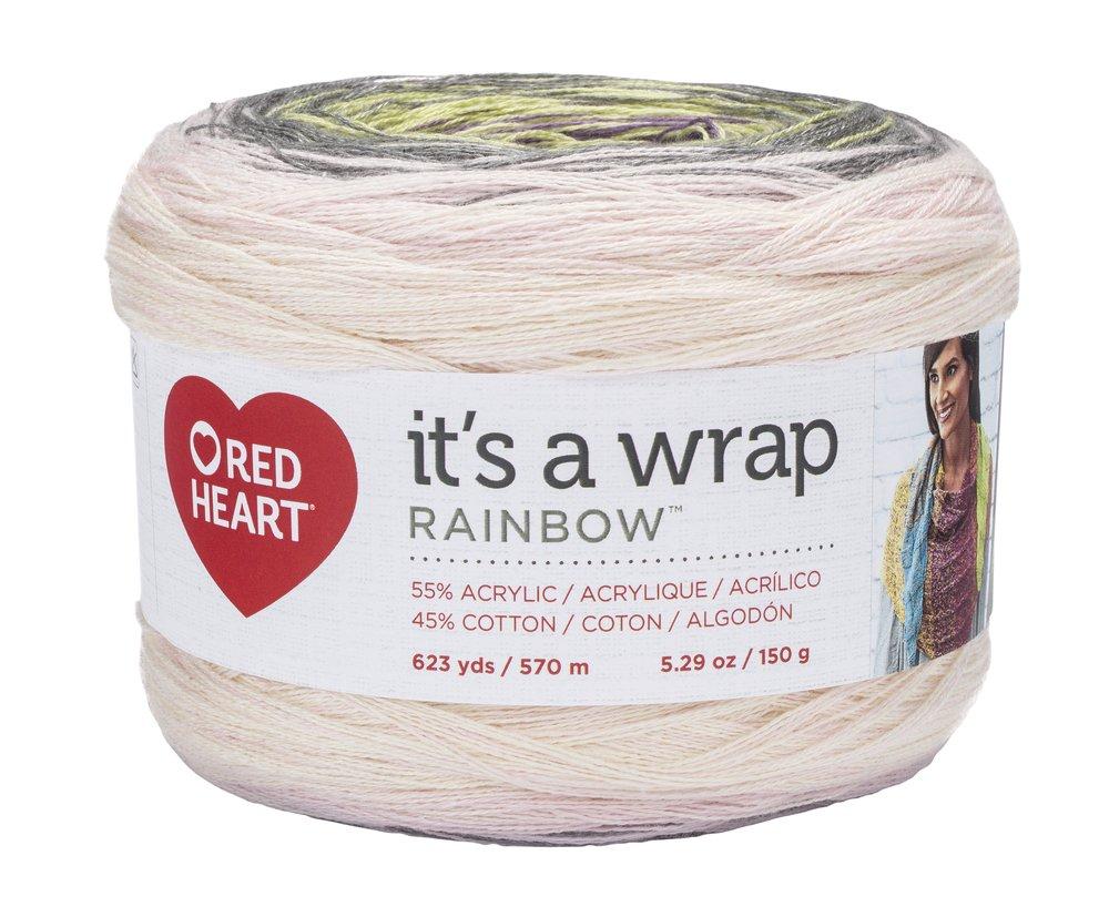 RED HEART Wrap Rainbow, Whisper Yarn