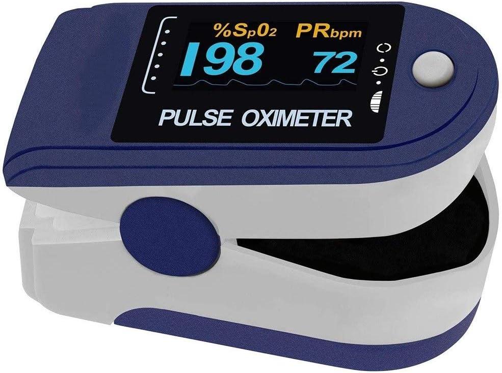 Donnie Timmy Oxímetro de Pulso PO-200 Solo para medir la saturación de oxígeno y el Pulso con Pantalla OLED Clara y giratoria