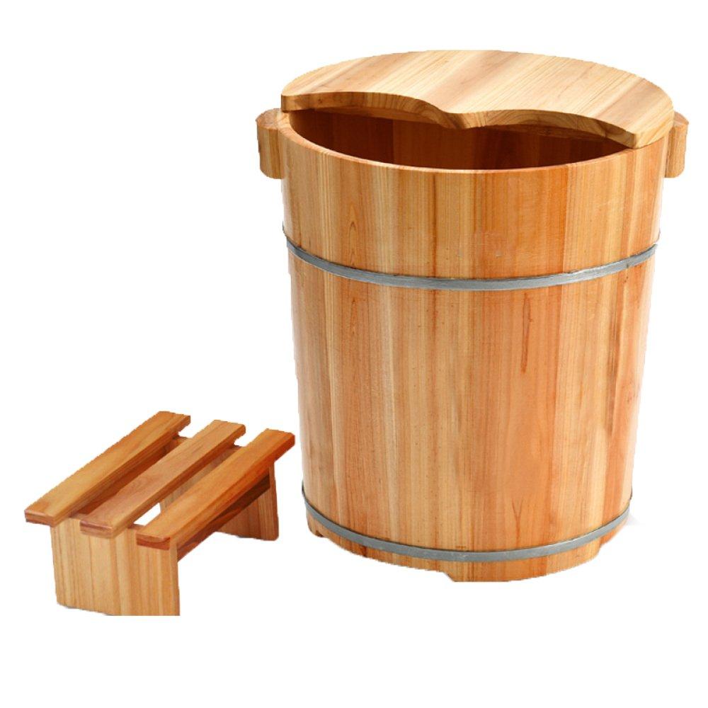 in vendita scontato del 70% ERHANG Bacino Di Pedicure Foot Basin Wooden Bucket Foot Basin Basin Basin Vasca Per Piedi Vasca Per Pediletti Foot Barrel Wood Saune,E  liquidazione fino al 70%