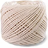 (1mm x 400m(about 437 yd)) Handmade Decorations Natural Cotton DIY Wall Hanging Plant Hanger Craft Making Knitting Cord Rope Natural Color Beige