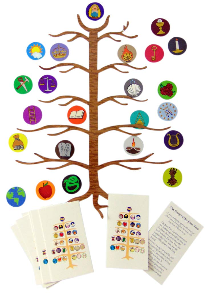 Westman Works Jesse Tree Advent Devotional Flexible Magnet Set with Wallet Size Holy Cards, Pack of 12 by Westman Works