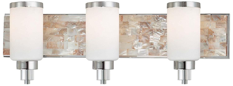 George kovacs by minka bath art vanity light with case etched opal - Minka Lavery 3241 77 1 Light Bath Lighting Chrome Finish Amazon Com