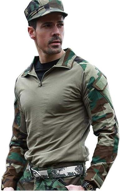 WINDCHASER Ejército Hombres Táctico Militar Manga Camiseta ...