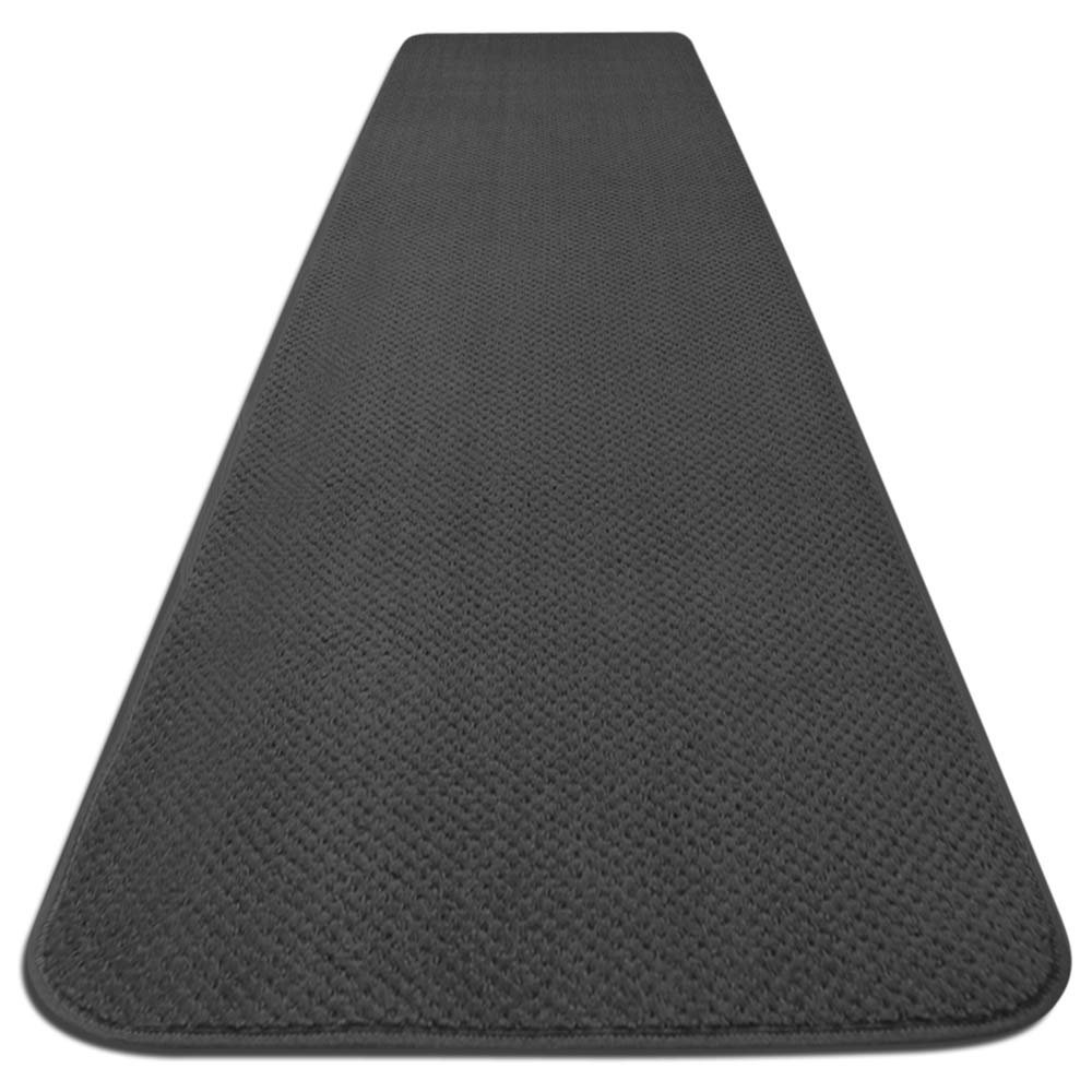House, Home and More Skid-resistant Carpet Runner - Gray - 8 Ft. X 27 In. - Many Other Sizes to Choose From