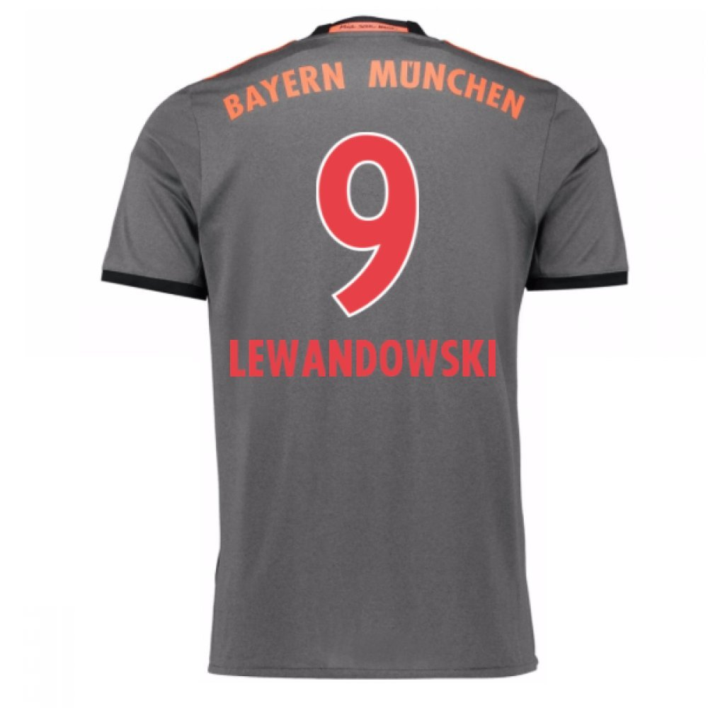 2016-17 Bayern Munich Away Football Soccer T-Shirt Trikot (Robert Lewandowski 9) - Kids