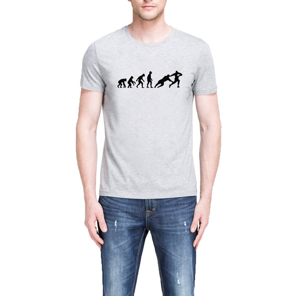 Loo Show S Evolution Of Rugby Funny Casual T Shirts Tee