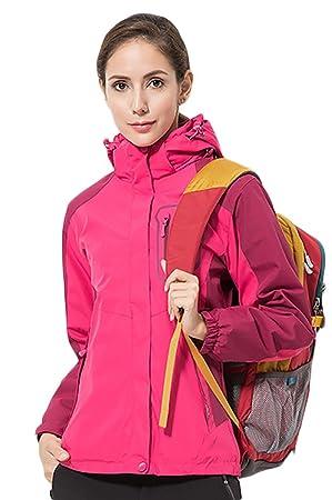 Ice Grey Hombre Mujer Outdoor Lluvia Chaqueta Softshell 3 en 1 chaqueta de invierno transpirable,