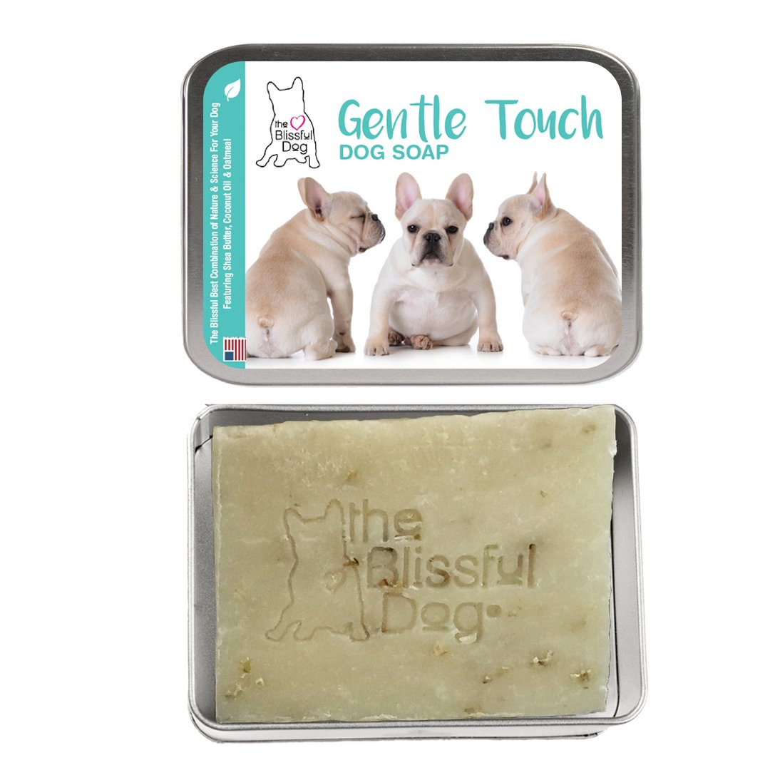 Cream French Bulldog The Blissful Dog Gentle Touch Cream French Bulldog Dog Soap