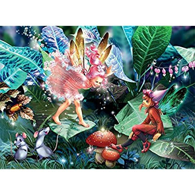 Ceaco Fairy ELF & Mice Puzzle (100 Piece): Toys & Games
