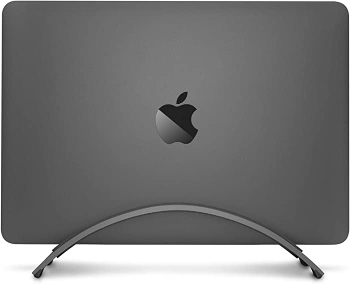 Twelve South BookArc for MacBook | Space-Saving Vertical Desktop Stand for Apple notebooks (Space Grey) Newest Version