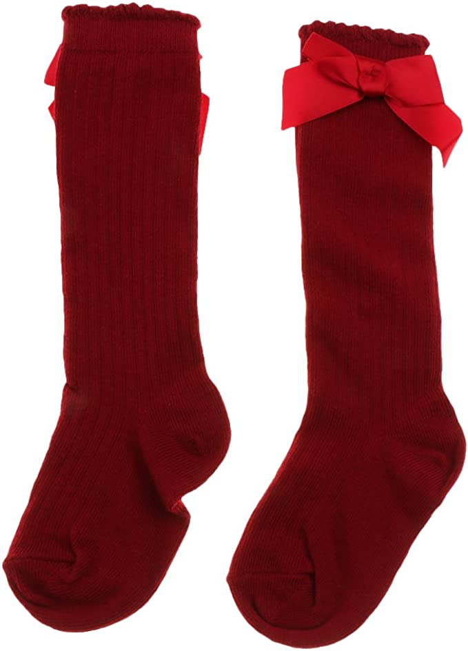 UK Baby Girls Kids Spanish Romany Knee High Socks Bowknot Party School Stockings