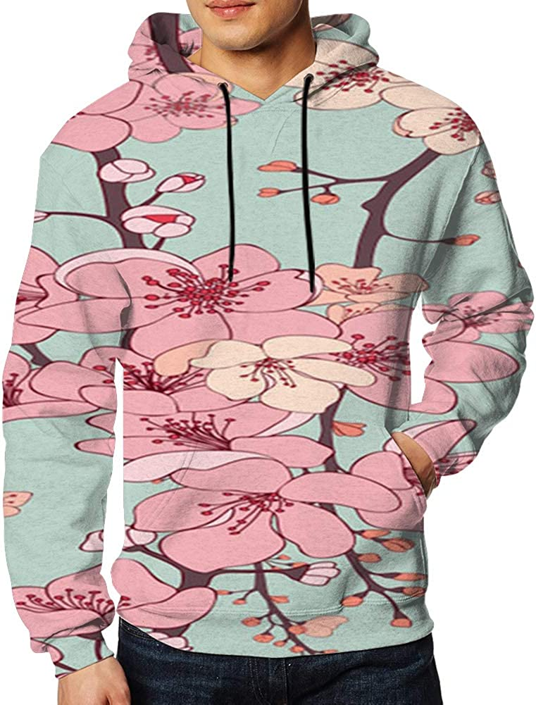 Men Sweatshirt Exotic Tropical Plants Palms 3D Digital Printing Funny Hoodie Pullover with Pockets