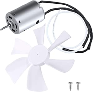 """EXCELFU 6"""" Replacement White Vent Fan Blade with 12V D-Shaft RV Vent Motor, Camper RV Bathroom Fan RV Roof Vent Fan Motor"""