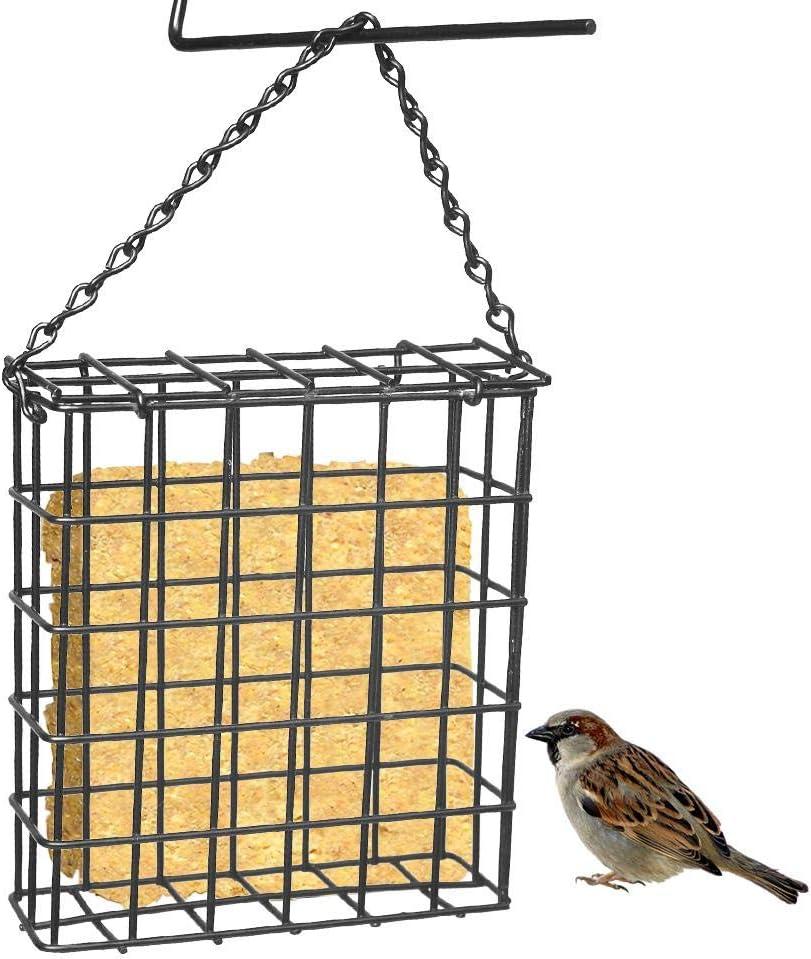 Briskay Suet Wild Bird Feeder - Jaula portátil duradera para Tree Hanging Food