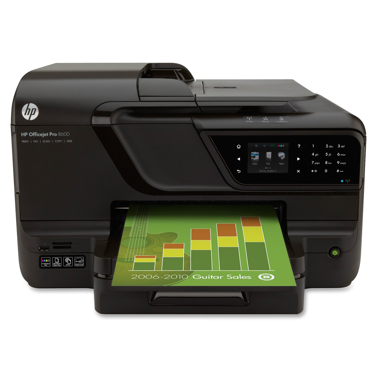 Amazon HP Officejet Pro 8600 E All In On Wireless Color Printer With Scanner Copier Fax Electronics